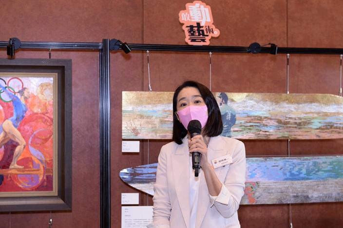 新艺潮总监邢珠迪女士表示希望通过结合体育和艺术,带出耳目一新的感觉,令更多人关注这两个界别。