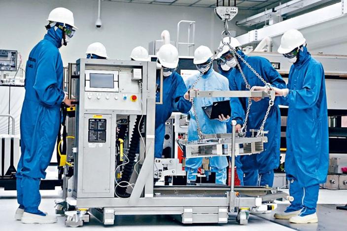 荷蘭ASML公司的芯片光刻機。(資料圖片)