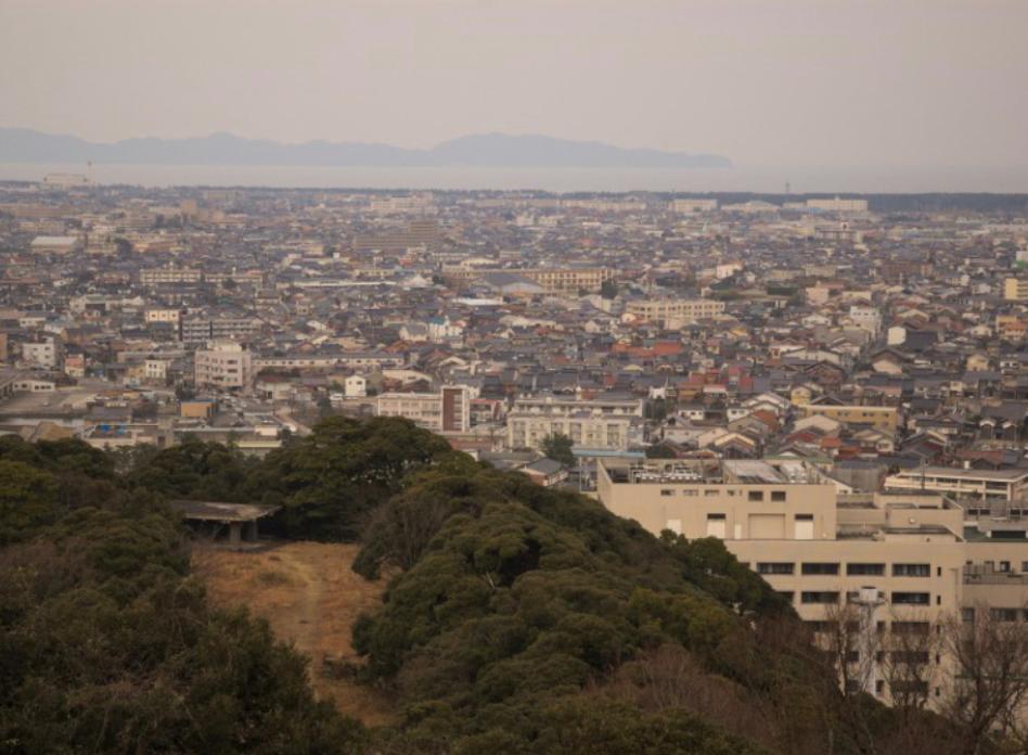 韓國遊客只能從上空觀賞鳥取縣米子市。
