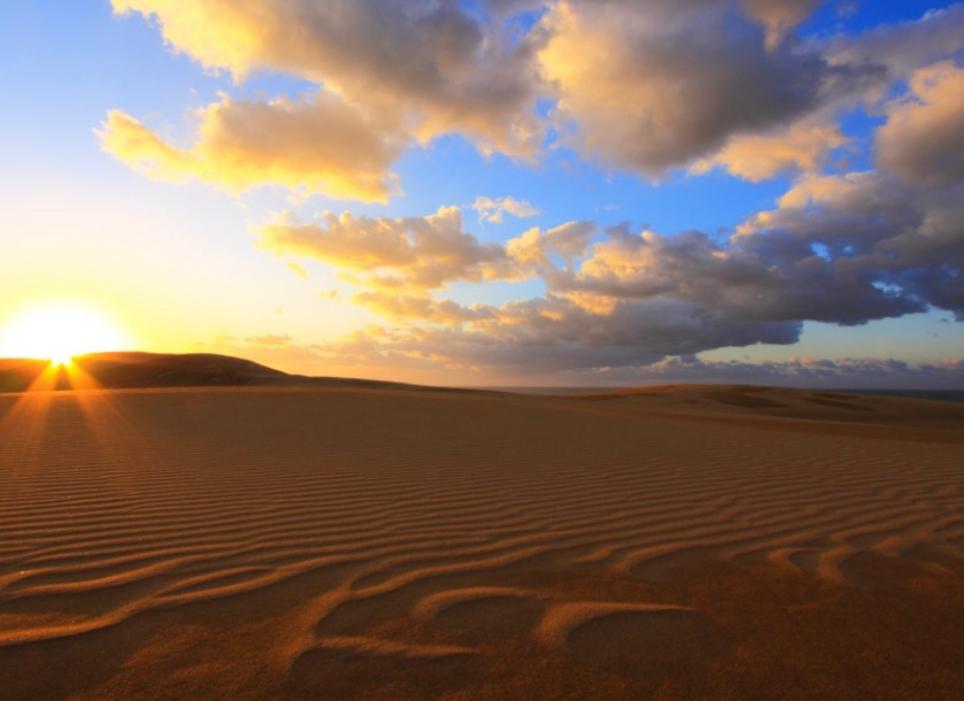 韓國遊客只能在上空看鳥取沙丘。