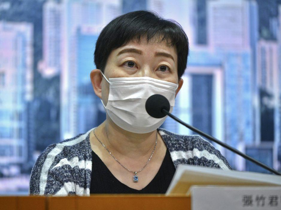 衛生防護中心傳染病處主任張竹君。