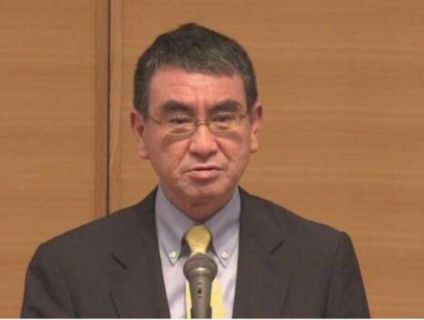 日本行政改革担当大臣河野太郎。NHK图片