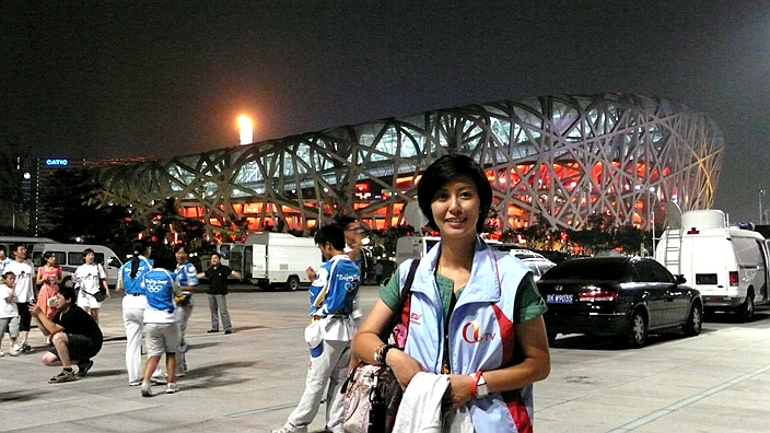 图:2008年笔者在北京停留近2个月采访奥运会。