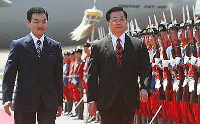 2003年胡錦濤訪問蒙古國。