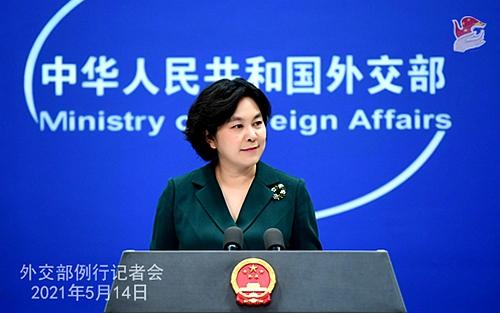 華春瑩在外交部例行記者會上列舉美、英、德的黑暗歷史。