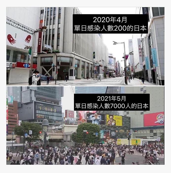 日本YouTuber「JUN醬」分享日本一年之間的對比照片。