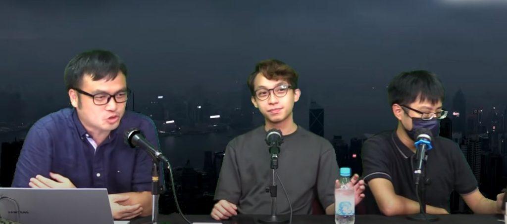 陳皓桓(中)接受網台訪問。
