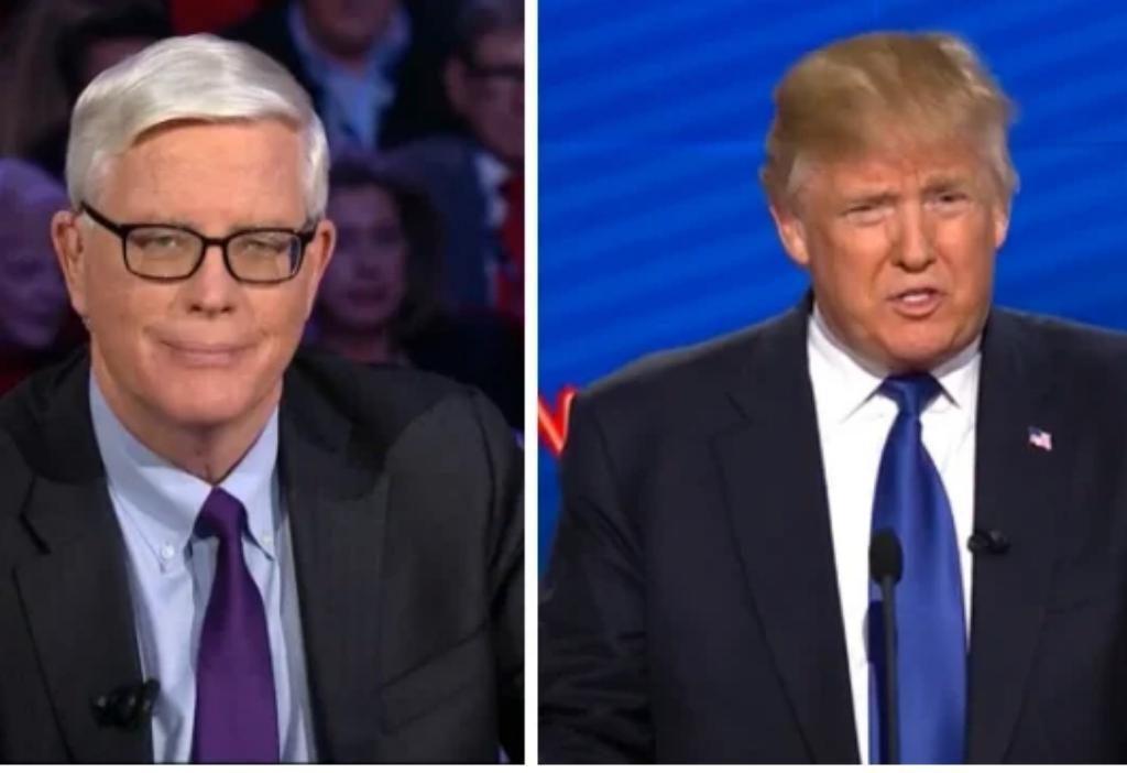 前美國總統特朗普(右)在接受保守派電台主持人休伊特(左)訪問時,也曾經語出驚人地稱「中國將擁有美國」。
