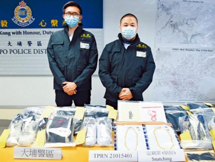 警方破獲5名中學生涉嫌在大埔搶劫金鋪的案件。