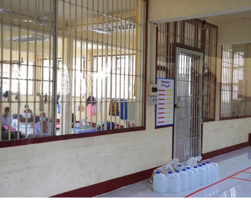 泰國監獄裏出現了集聚感染,部份囚犯要隔離。AP圖片