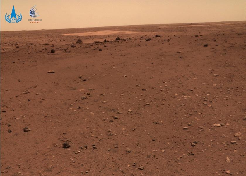 火星地表图。