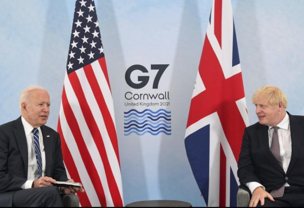 6月10日,出访欧洲的美国总统拜登与英国首相约翰逊会晤。在G7之中,美英关系比较紧密。