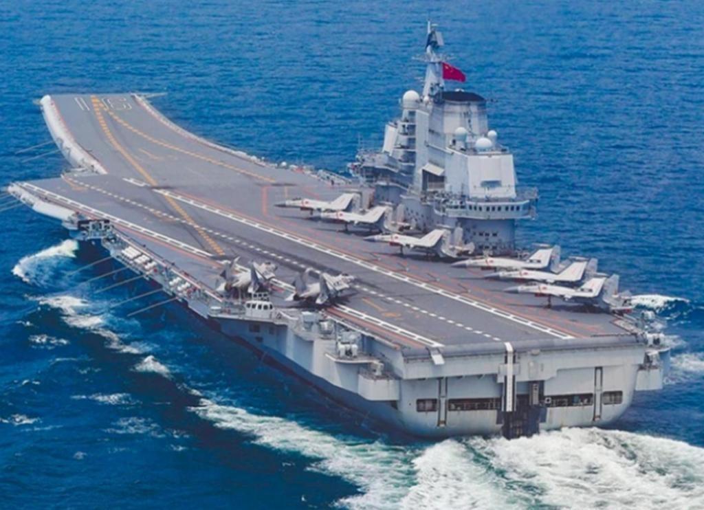 中国航母辽宁号。