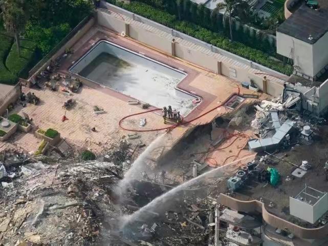 对废墟喷水效用极有限。