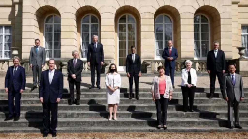 G7財長在倫敦舉行會談。