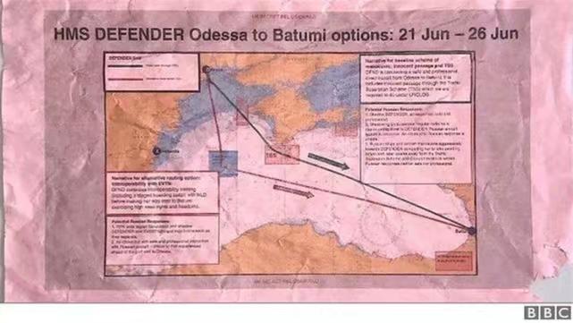英国考虑两条路线,最终选择了靠近克里米亚的挑衅俄罗斯路线。