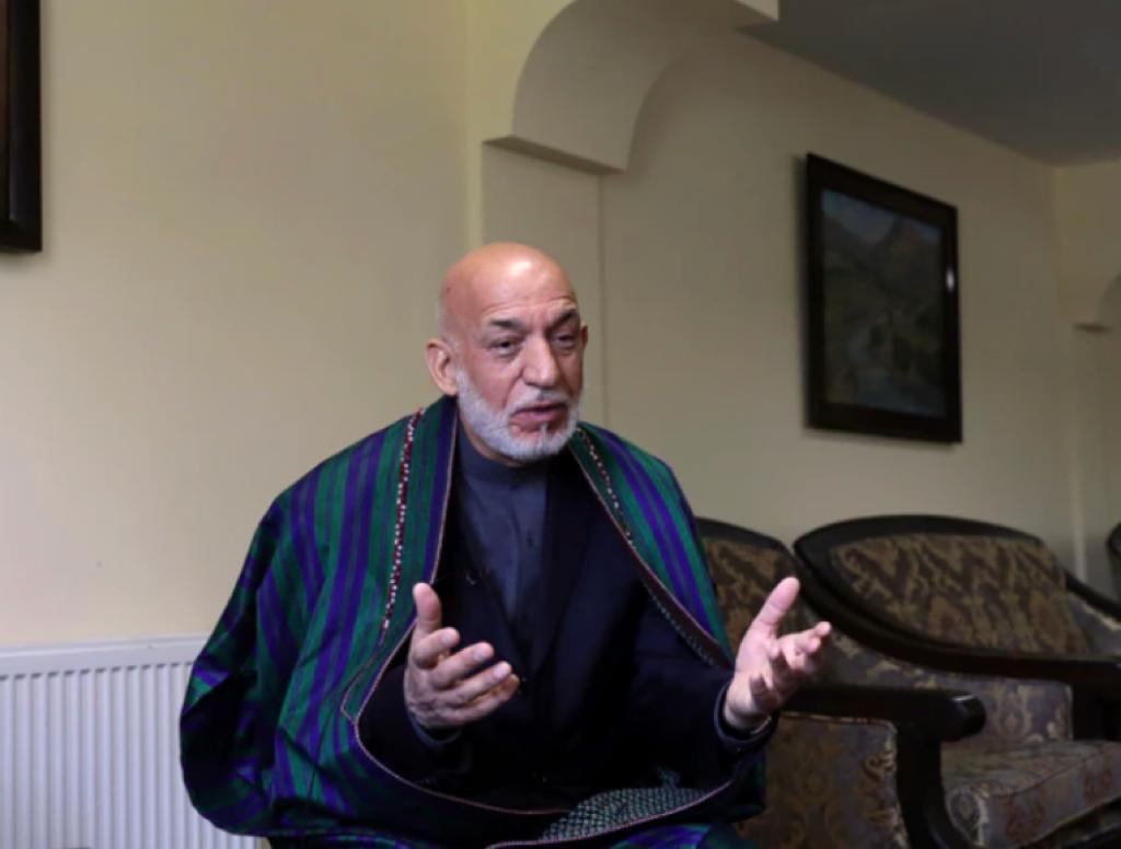 美联社访问阿富汗前总统卡尔扎伊。