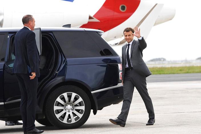 法國總統馬克龍。(AP圖片)