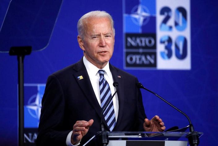 美國總統拜登籌謀摒棄中國5G技術。(AP圖片)