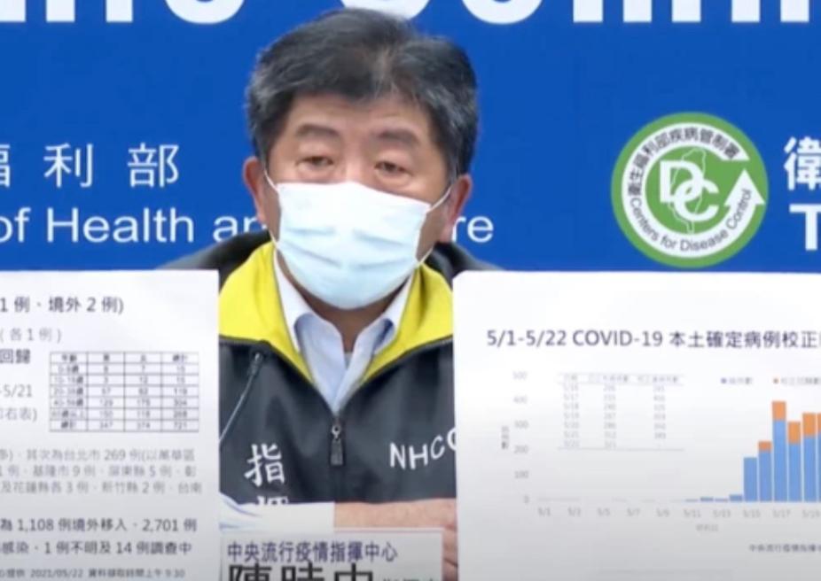 Justin Yang要台灣疾管署加油。(圖/指揮中心提供)