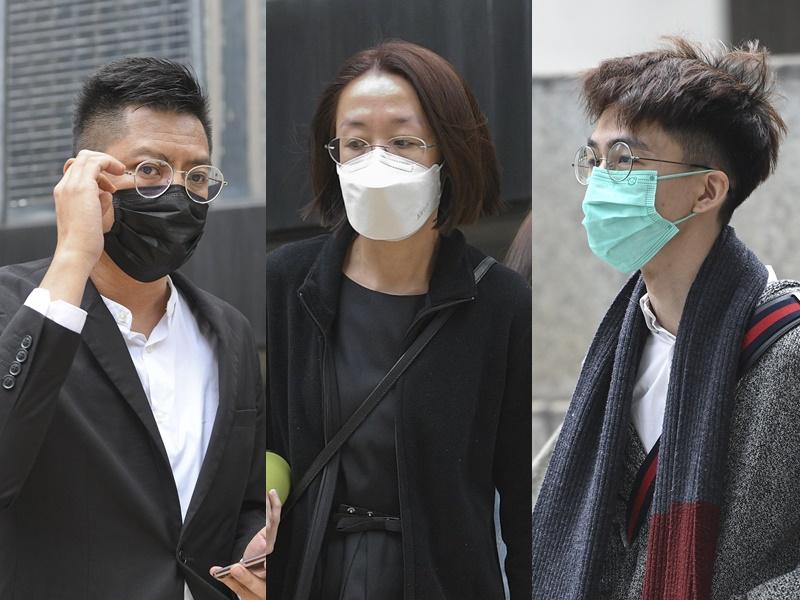 由左至右:謝嘉綸、劉婉玲及李俊霖罪成均判囚。資料圖片