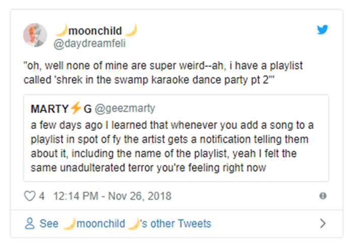 People are revealing the hilarious names they've given their Spotify