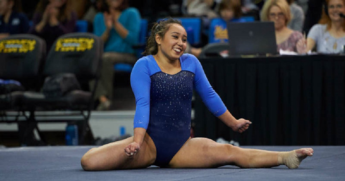 College gymnast goes viral with