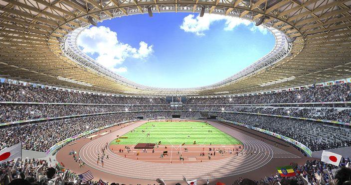 東京奧運主場館構思圖(AP圖片)