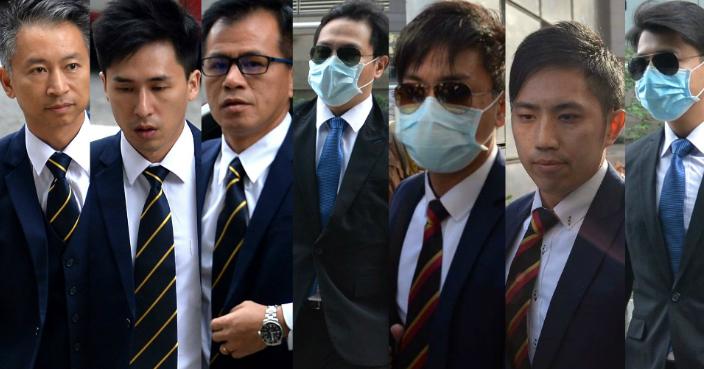 七名警員襲擊罪成須還柙。