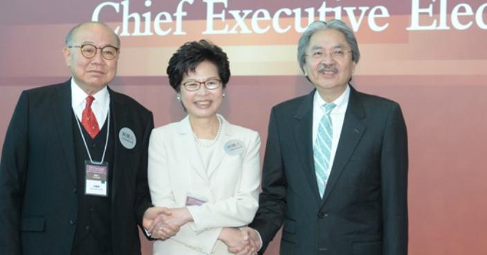 左起︰胡國興、林鄭月娥、曾俊華