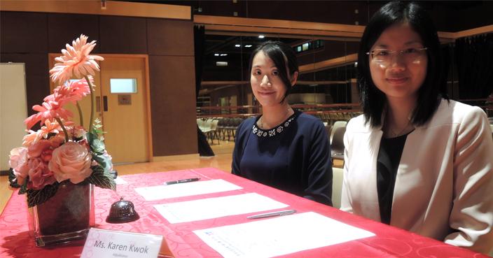音樂教育家金敏賢(左) 和郭家詠均表示催谷小朋友不是正確學習音樂的方法