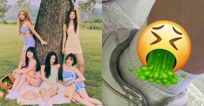 未成年女粉看Red Velvet後驚覺腳上有可疑黏液 疑有男粉邊看邊「DIY」