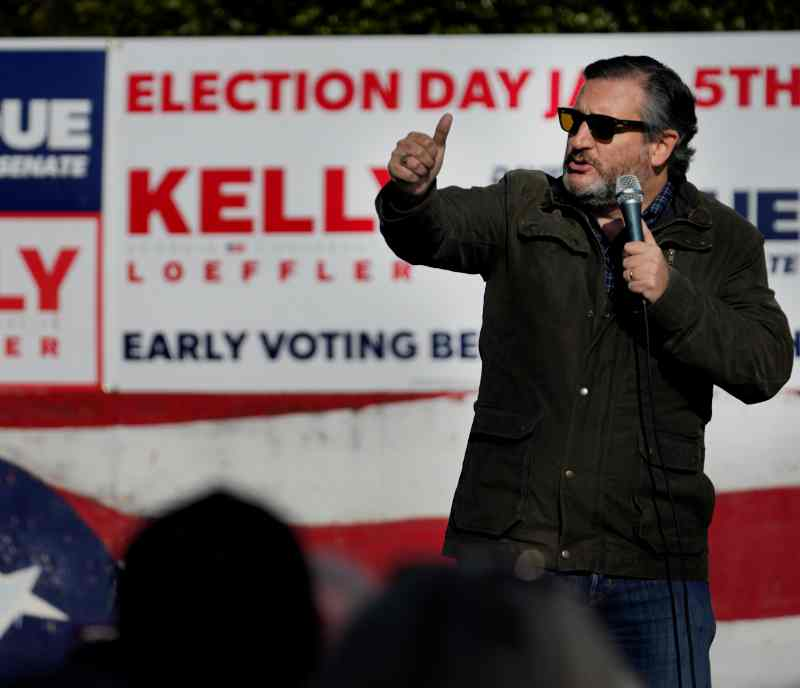 克鲁兹联同11名共和党参议员挑战选举结果 拒认证拜登胜出
