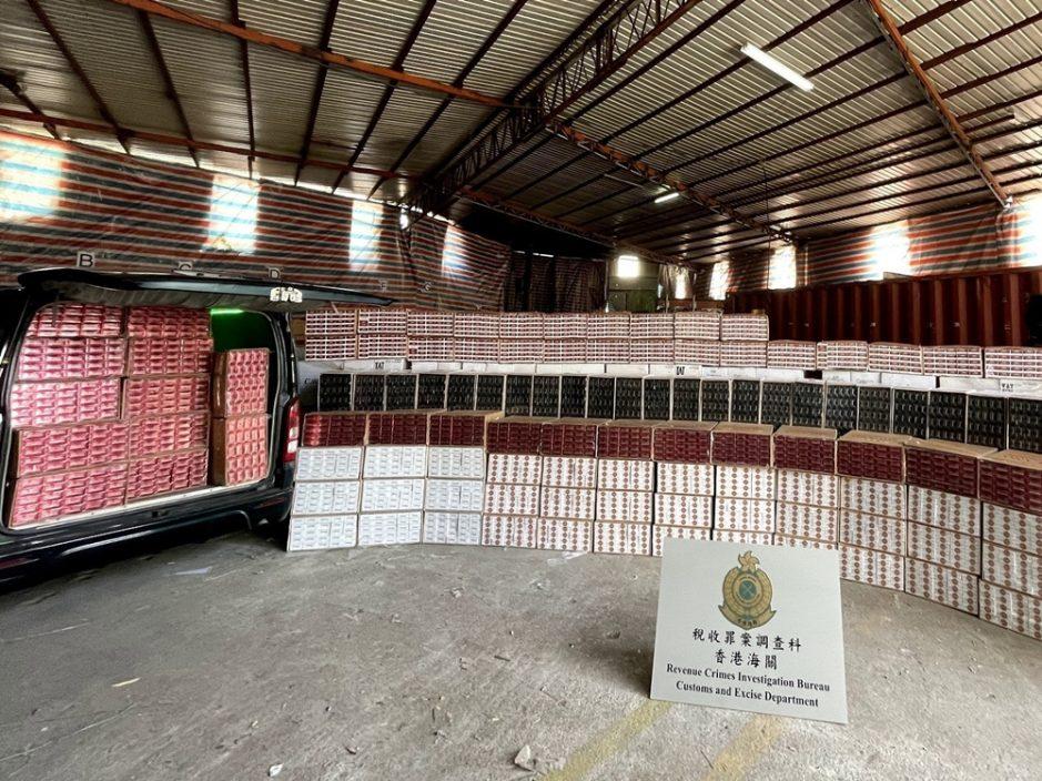 海關坪輋檢獲約950萬支煙草產品 估計市值2,600萬元