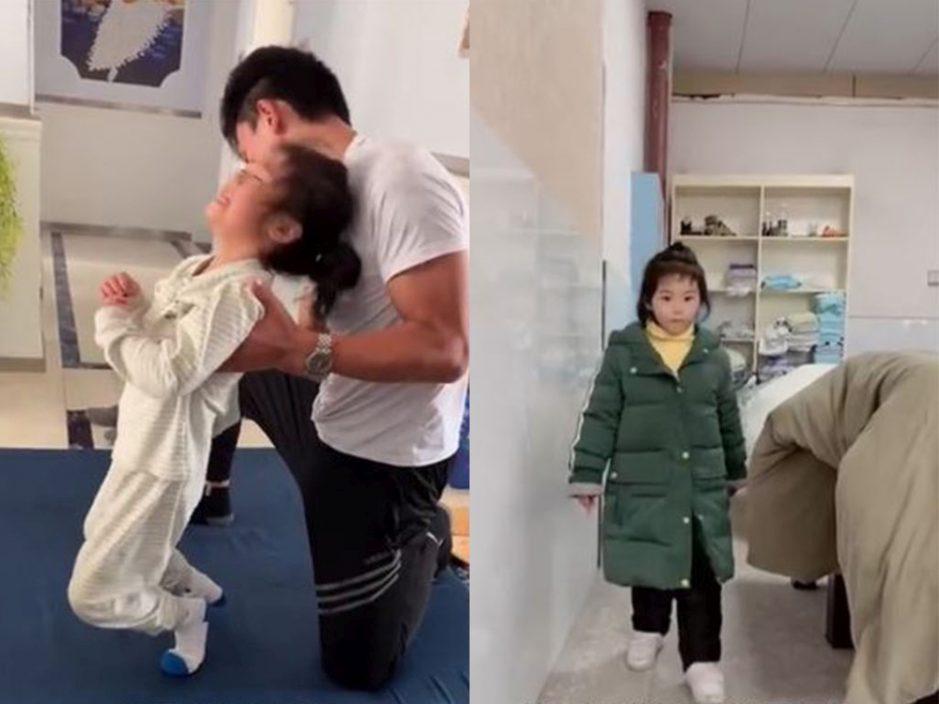 5岁女童练舞做倒立后下肢瘫痪 经4个月治疗后奇迹站起来