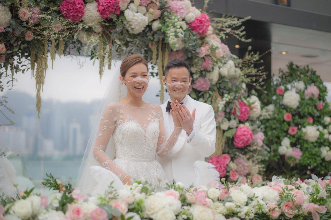 【婚禮照曝光】林盛斌做「外父」預演嫁女 39歲朱慧敏感動嫁心臟科醫生