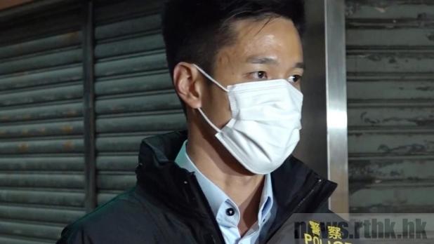 傅皓成表示,警方晚上7時巡邏期間,發現有關火鍋店仍繼續營業。(鍾家銘攝)