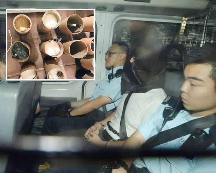 寓所藏逾30枚土制烟雾弹 起重机司机判囚38个月