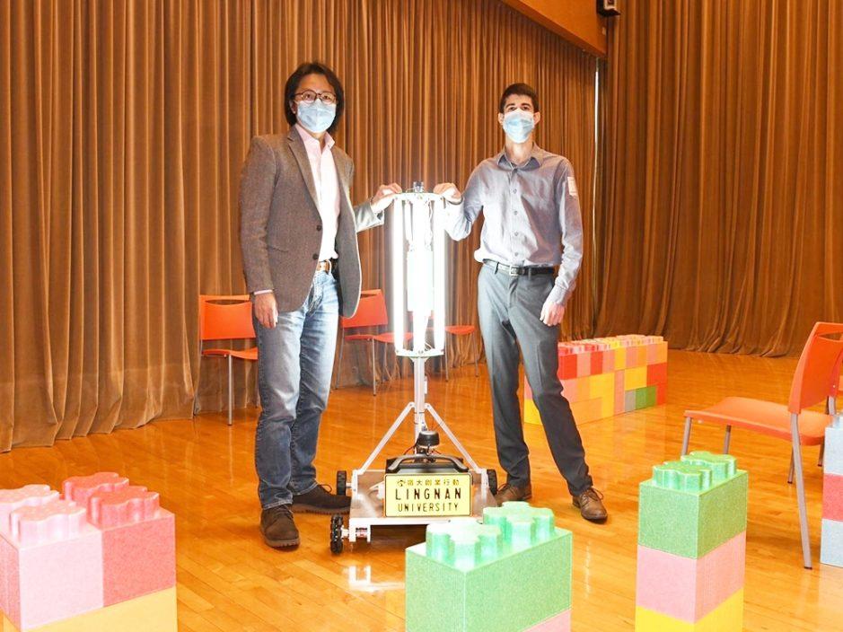 岭大研智能紫外光消毒机器人 可测绘清洁路线