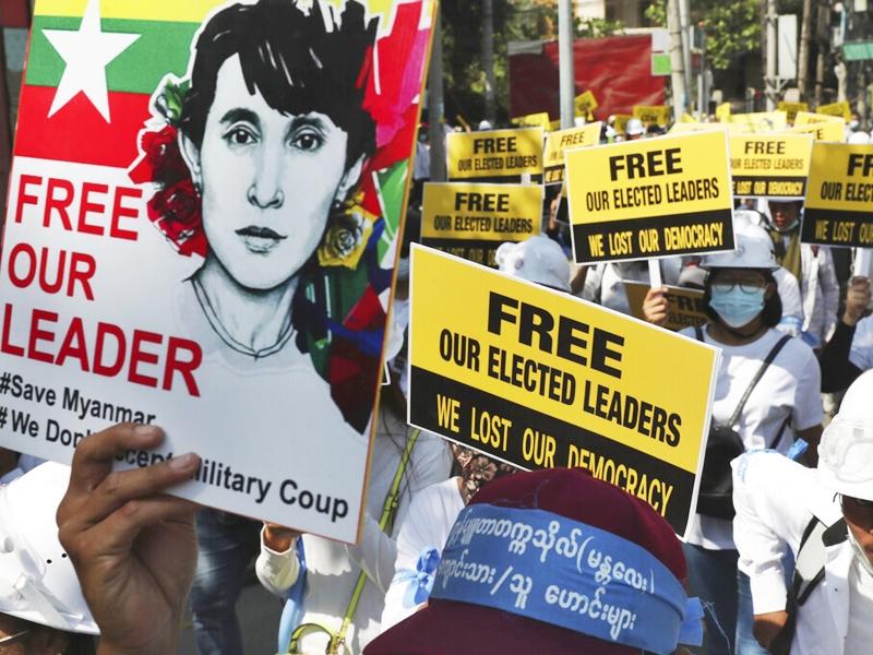 缅甸再有示威者死亡 联合国安理会闭门讨论局势