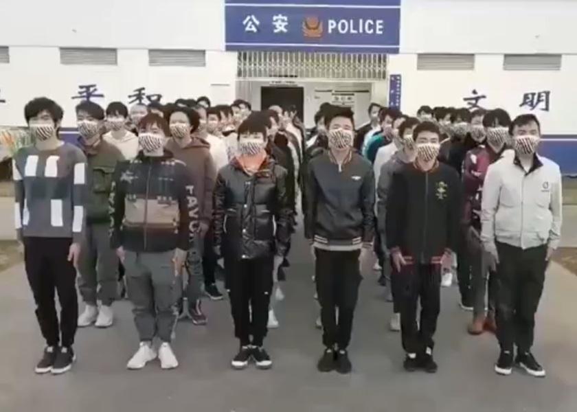 """电骗疑犯回国列队""""认错悔改"""" 称中国人不骗中国人"""
