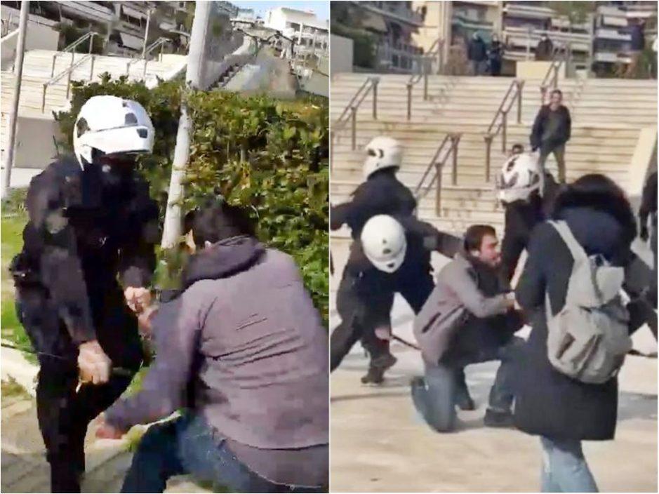 希腊男涉违封城令遭警殴打 民众斥无理上街抗议