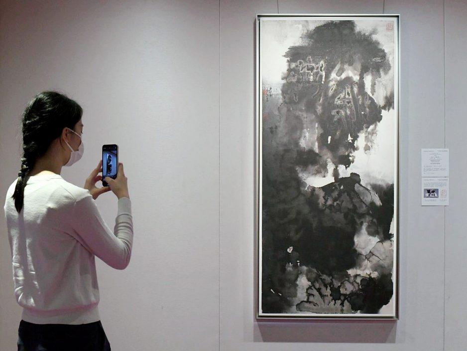 张大千泼墨画拍卖 估值达3000万