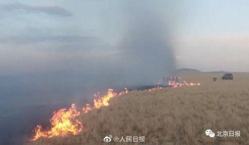 蒙古國蔓延至中國邊境明火被全部堵截!