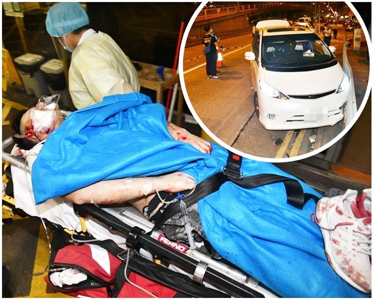 宝马九龙城闸停七人车 4刀手拖27岁司机落车狂斩
