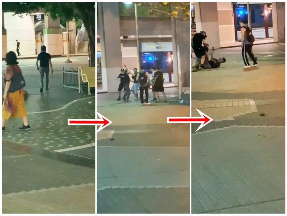 【有片】逸东邨恶汉持双菜刀找晦气 纠缠间遭箍颈制服