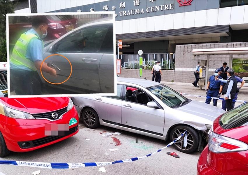 私家车疯狂驾驶撞8车 警开枪制止拘黑帮地盘工