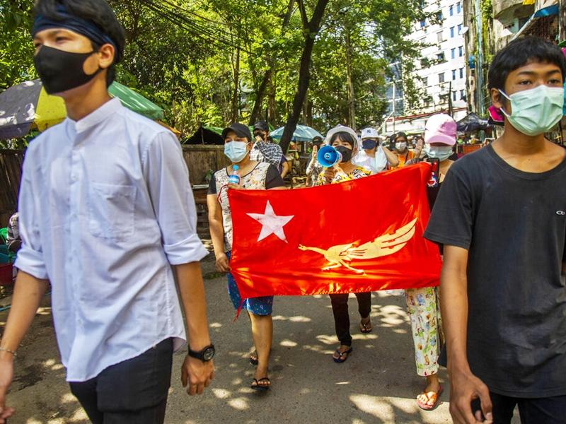 缅甸军方指近期示威减少 两年内将重新举行大选