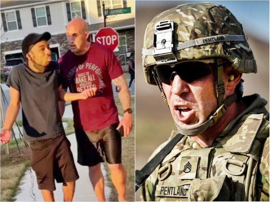 当街喝骂及推撞黑人邻居 白人美兵被捕