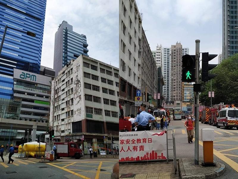 观塘裕民坊拒迁商户危站天台控诉 市建局:已安排与管理层会面